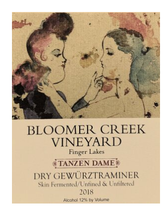 "Bloomer Creek Dry Gewürztraminer ""Skin Fermented"" 2019, Finger Lakes, New York"
