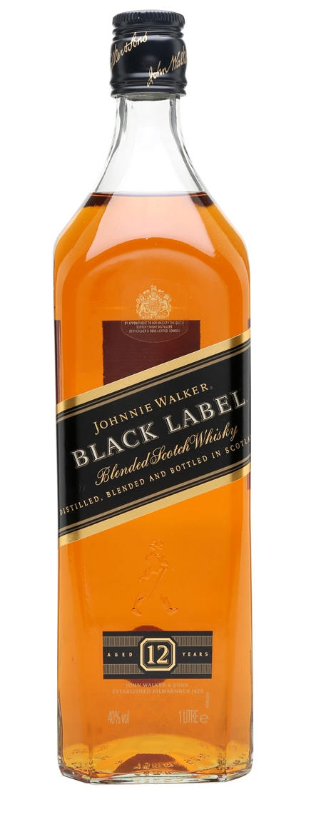 Johnnie Walker Black 12yr Blended Scotch 1L