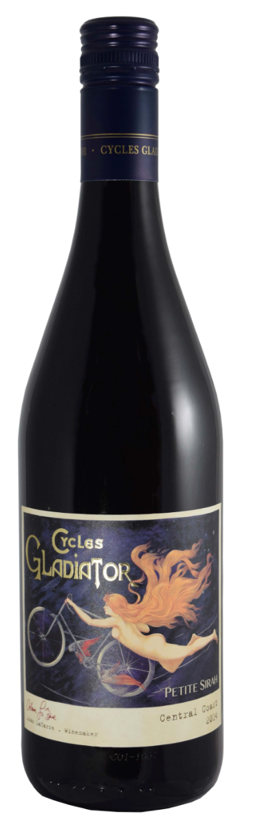 Cycles Gladiator Petite Sirah 2015, Central Coast, California