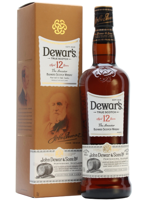 Dewar's 12yr Blended Scotch - 1L