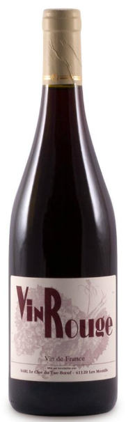 Clos du Tue-Boeuf 'Vin Rouge' 2017, Loire Valley, France