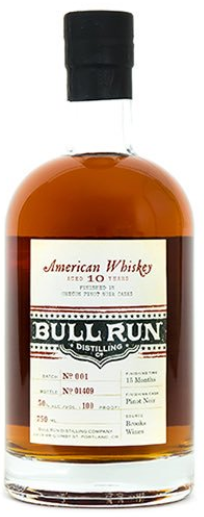 Bull Run Distilling 10yr American Whiskey  - Finished in Pinot Noir Cask