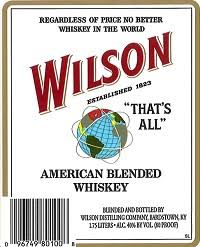 Wilson American Blended Whiskey