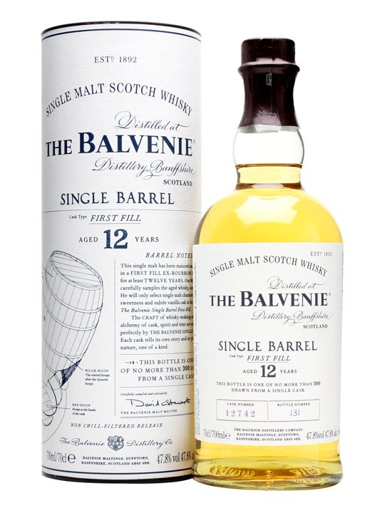 Balvenie 12yr Single Barrel Single Malt Scotch
