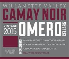 Omero Cellars Gamay Noir 2016, Willamette Valley, Oregon