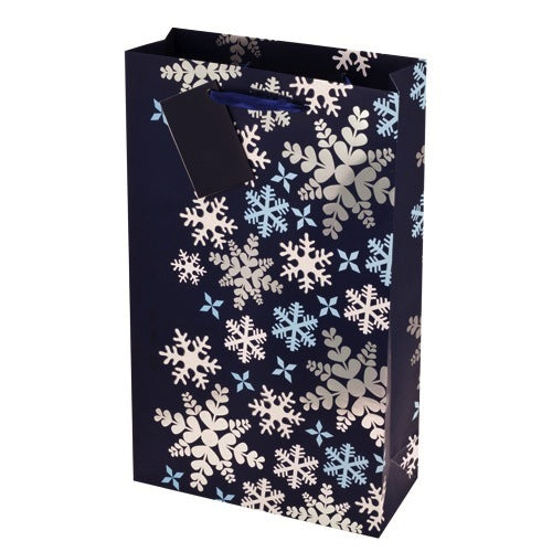 Blue Snowflake Double Gift Bag