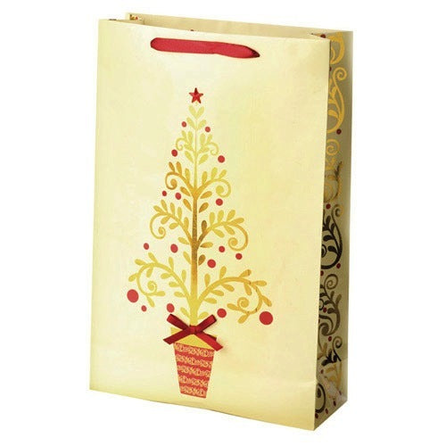 Golden Tree Double Wine Gift Bag