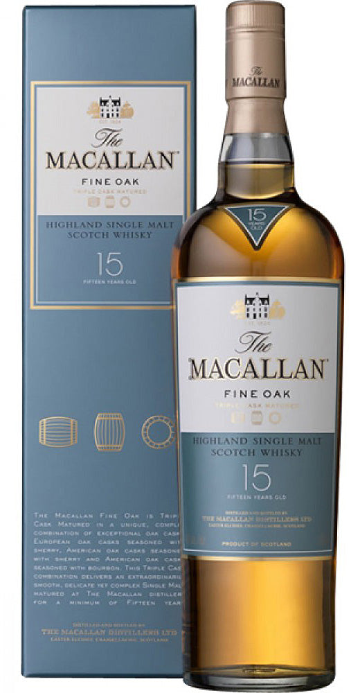 Macallan 'Fine Oak' 15yr Old Single Malt Scotch