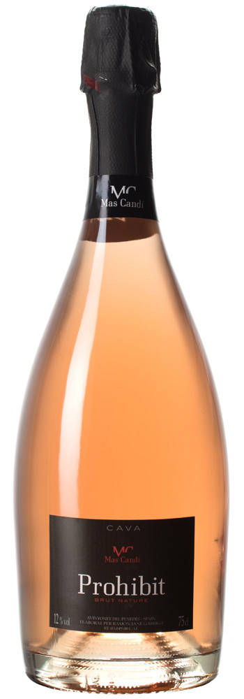 Mas Candí 'Prohibit' Cava Brut Nature Rosada 2015, Catalonia, Spain