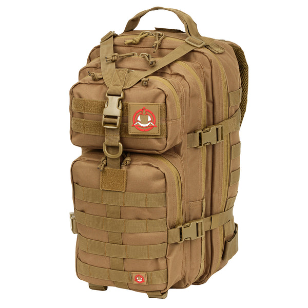 Orca Tactical 34L MOLLE Military Backpack Bug Out Bag, COYOTE