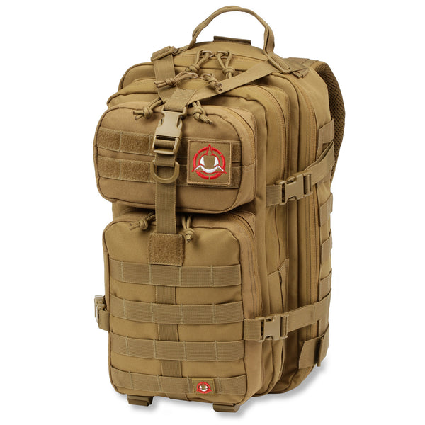 Orca Tactical 34L MOLLE Military Backpack Bug Out Bag, KHAKI