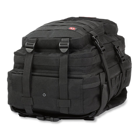 Orca Tactical 40L MOLLE Military Backpack Bug Out Bag, BLACK