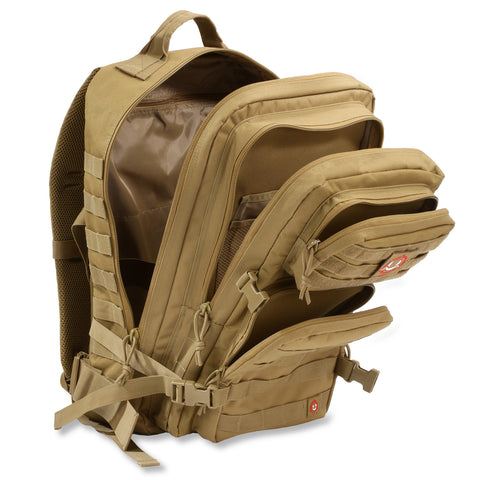 Orca Tactical 40L MOLLE Military Survival Backpack Rucksack Pack, KHAKI