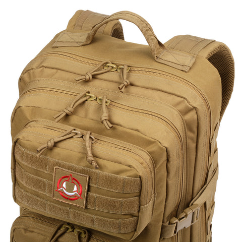 Orca Tactical 40L MOLLE Military Backpack Bug Out Bag, KHAKI