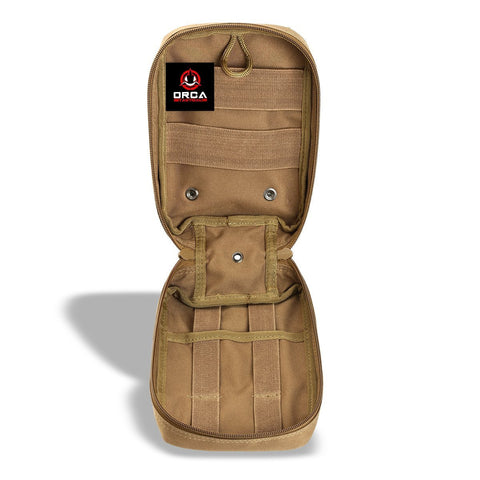 Orca Tactical MOLLE EMT Medical First Aid Pouch - Coyote