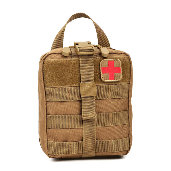 Orca Tactical MOLLE Rip-Away EMT Medical First Aid Pouch - COYOTE