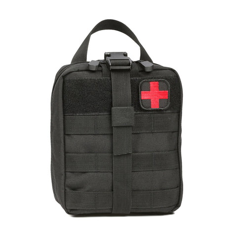 Orca Tactical MOLLE Rip-Away EMT Medical First Aid Pouch - BLACK