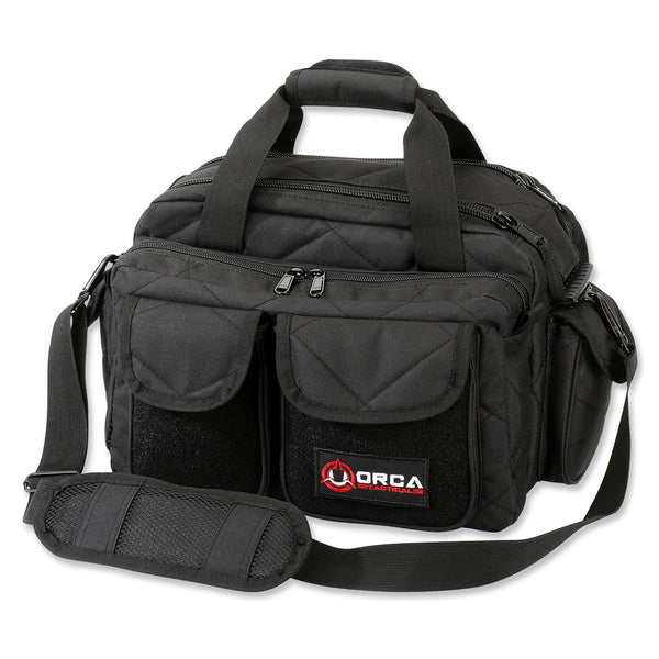 Orca Tactical Gun and Ammo Shooting Range Duffel Bag - BLACK