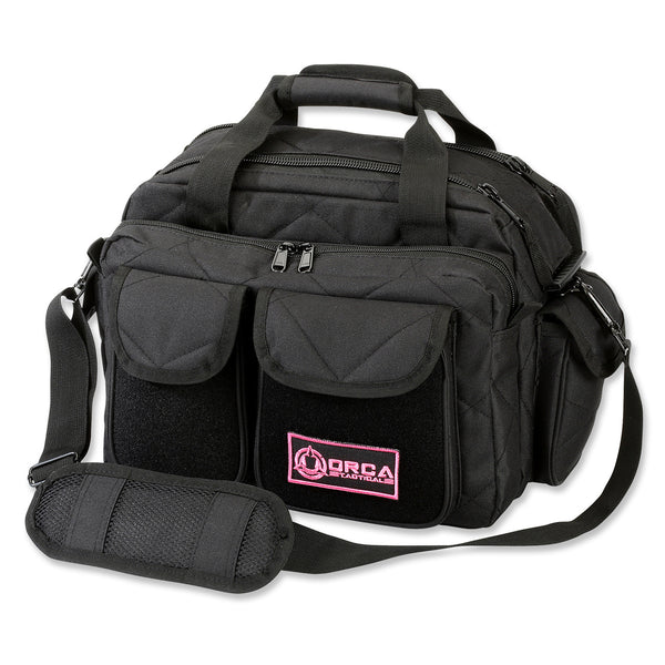 Orca Tactical Gun and Ammo Shooting Range Duffel Bag - BLACK/PINK