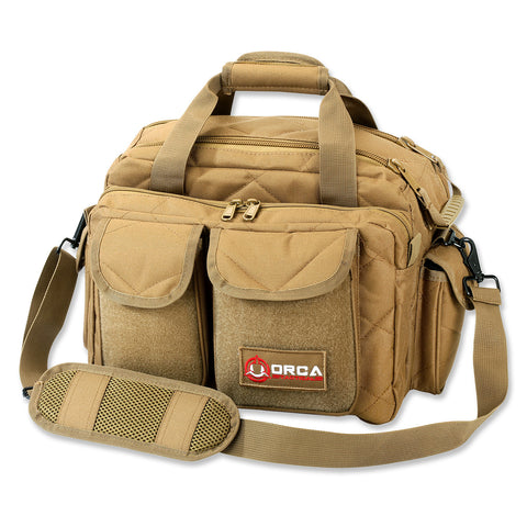 Orca Tactical Gun and Ammo Shooting Range Duffel Bag - COYOTE BROWN
