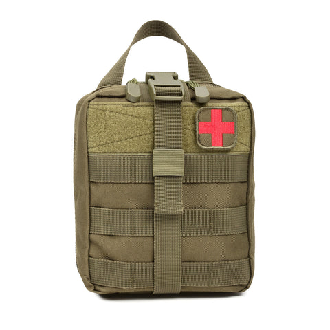 Orca Tactical MOLLE Rip-Away EMT Medical First Aid Pouch - OD GREEN