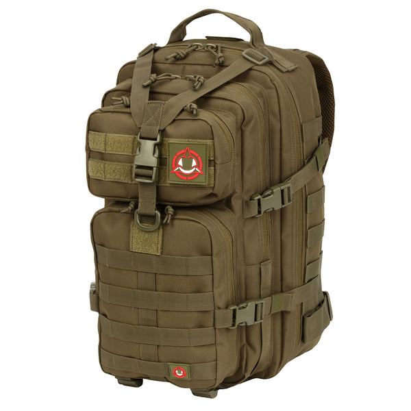 Orca Tactical 34L MOLLE Military Backpack Bug Out Bag, OD GREEN