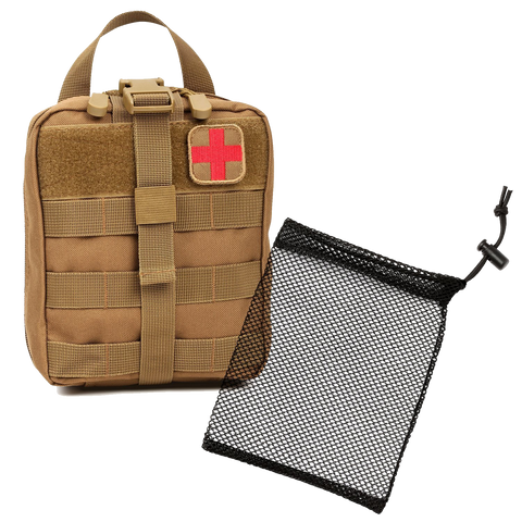 Orca Tactical MOLLE Rip-Away EMT Medical First Aid Pouch - RED