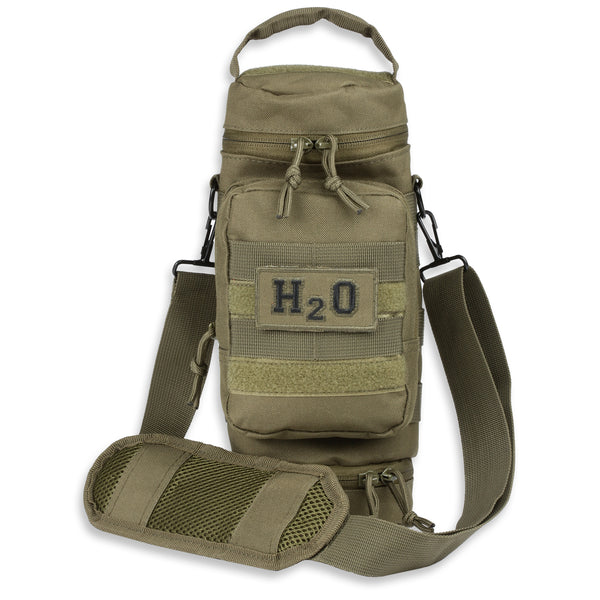 Orca Tactical MOLLE H2O Water Bottle Pouch - OD Green
