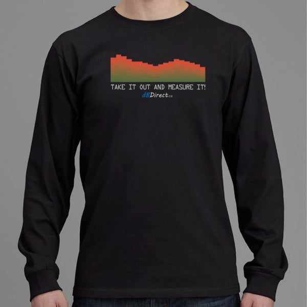 Take it out and measure it! Unisex Long Sleeve T-shirt, Customizable, Free Shipping