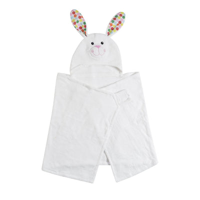 ZOOCCHINI Kids Plush Terry Hooded Bath Towel - Bella the Bunny-5