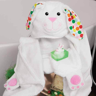 ZOOCCHINI Kids Plush Terry Hooded Bath Towel - Bella the Bunny-3