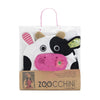 ZOOCCHINI Kids Plush Terry Hooded Bath Towel - Casey the Cow-5