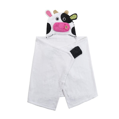 ZOOCCHINI Kids Plush Terry Hooded Bath Towel - Casey the Cow-3
