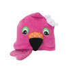 ZOOCCHINI Kids Plush Terry Hooded Bath Towel - Franny the Flamingo-5
