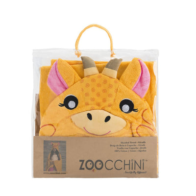 ZOOCCHINI Kids Plush Terry Hooded Bath Towel - Jaime the Giraffe-5