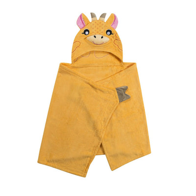 ZOOCCHINI Kids Plush Terry Hooded Bath Towel - Jaime the Giraffe-3