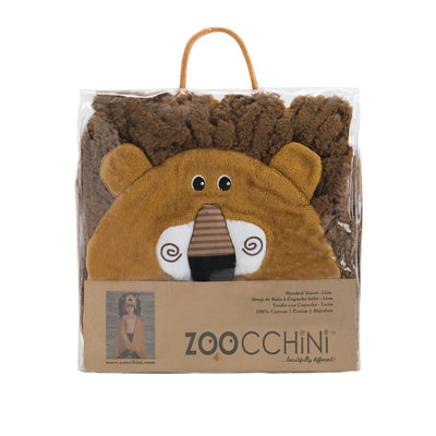 ZOOCCHINI Kids Plush Terry Hooded Bath Towel - Leo the Lion-5
