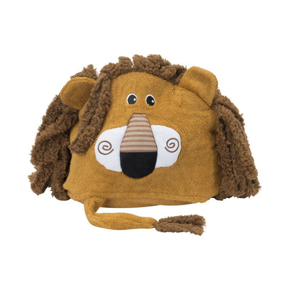 ZOOCCHINI Kids Plush Terry Hooded Bath Towel - Leo the Lion-4