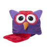 ZOOCCHINI Kids Plush Terry Hooded Bath Towel - Olive the Owl-5