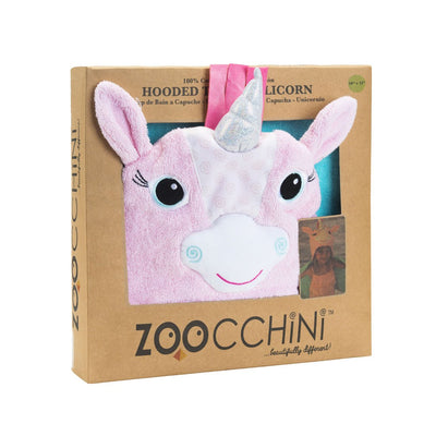 ZOOCCHINI Kids Plush Terry Hooded Bath Towel - Allie the Alicorn-4