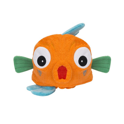 ZOOCCHINI Kids Plush Terry Hooded Bath Towel - Sushi the Tropical Fish-6