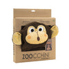 ZOOCCHINI Kids Plush Terry Hooded Bath Towel - Chippy the Chimp-5