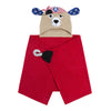 ZOOCCHINI Kids Plush Terry Hooded Bath Towel - Pedro the Pirate Dog-5