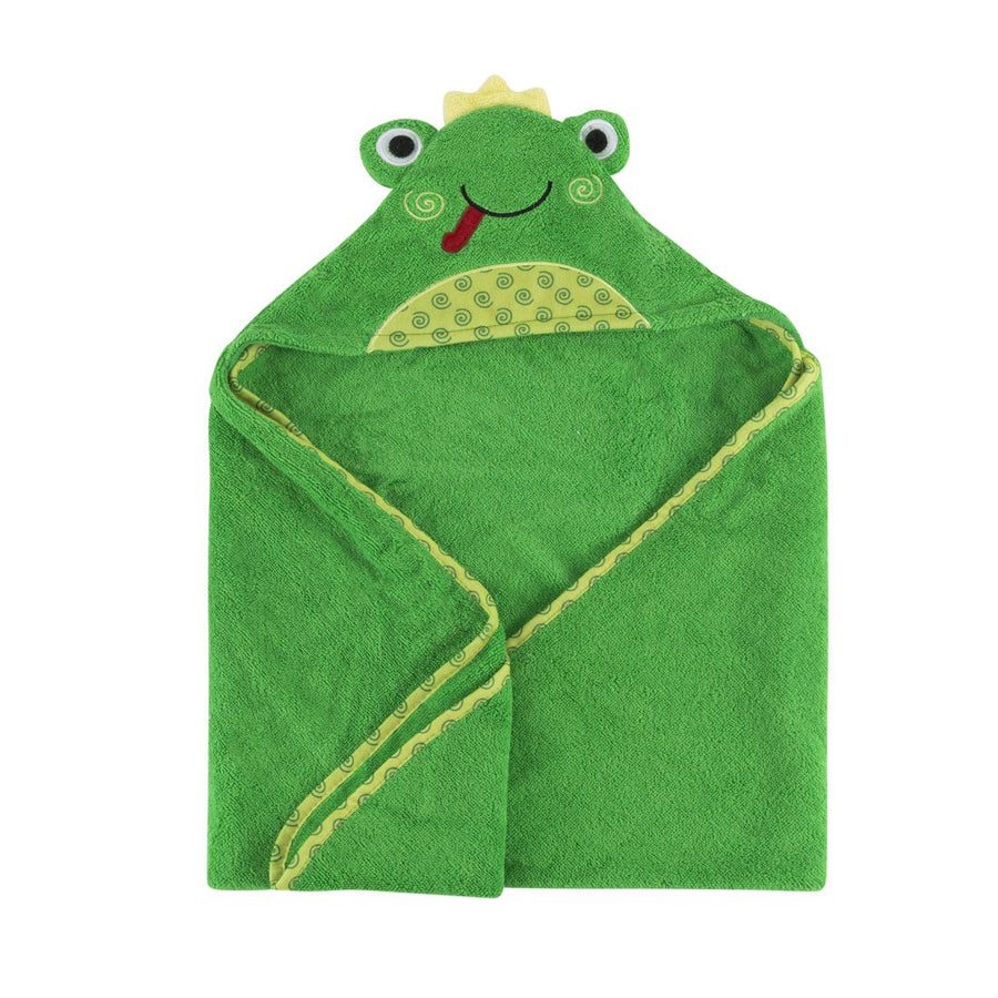 ZOOCCHINI Baby Snow Terry Hooded Bath Towel - Flippy the Frog-1