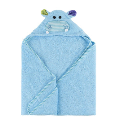 ZOOCCHINI Baby Snow Terry Hooded Bath Towel - Henry the Hippo-4