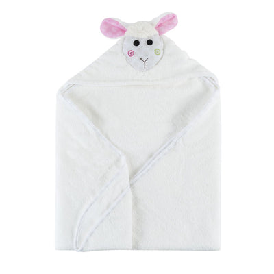 ZOOCCHINI Baby Snow Terry Hooded Bath Towel - Lola the Lamb-4