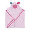ZOOCCHINI Baby Snow Terry Hooded Bath Towel - Pinky the Piglet-3