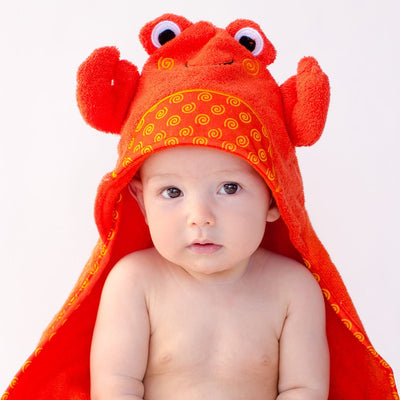 ZOOCCHINI Baby Snow Terry Hooded Bath Towel - Charlie the Crab-2