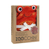 ZOOCCHINI Baby Snow Terry Hooded Bath Towel - Charlie the Crab-3