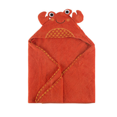 ZOOCCHINI Baby Snow Terry Hooded Bath Towel - Charlie the Crab-4